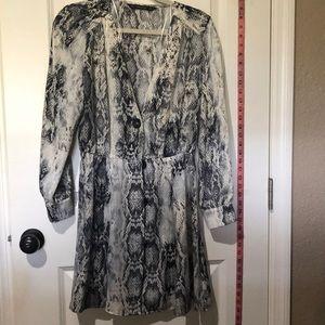 Zara Snake Skin Pattern Dress